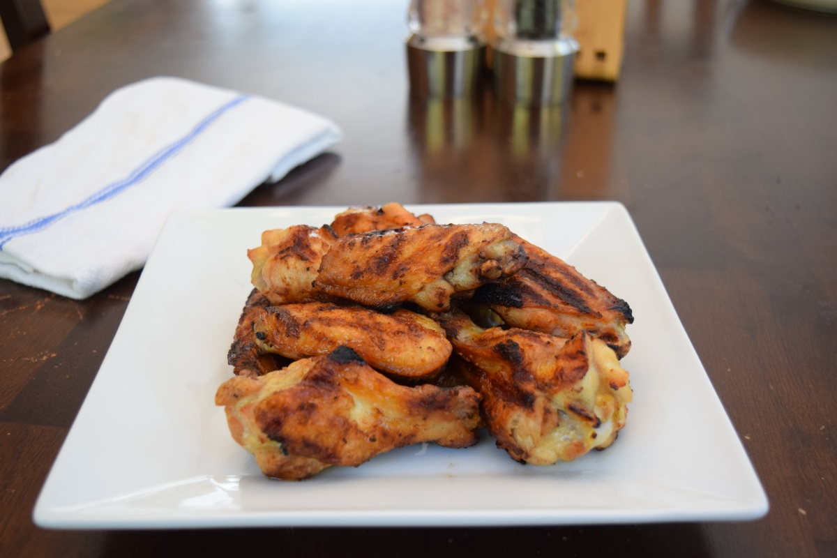 Beer Brined Grilled Wings